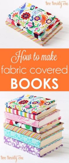 DIY School Supplies You Need For Back To School - Fabric Covered Books - Cuter, Cool and Easy Projects for Teens, Tweens and Kids to Make for Middle School and High School. Fun Ideas for Backpacks, Pencils, Notebooks, Organizers, Binders http://diyprojectsforteens.com/diy-school-supplies