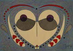 De peito aberto - acrílica e nanquim, 594 x 420mm