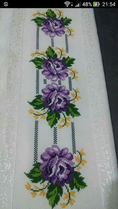 This Pin was discovered by Zül Cross Stitch Sampler Patterns, Cross Stitch Borders, Cross Stitch Flowers, Cross Stitch Designs, Cross Stitching, Cross Stitch Embroidery, Embroidery Patterns, Hand Embroidery, Graphic Design Portfolio Examples