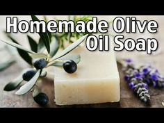 This homemade olive oil soap recipe is easy to make with just a few ingredients. It makes a wonderfully moisturizing and luxurious bar of soap! Soap Making Recipes, Homemade Soap Recipes, Homemade Products, Homemade Gifts, How To Make Lye Soap, Diy Soap With Lye, Cold Press Soap Recipes, Olives, Coconut Oil Soap