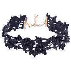 Vanessa Mooney Women's Lovetta Choker - Black (110540 PYG) ❤ liked on Polyvore featuring jewelry, necklaces, accessories, black, vanessa mooney choker, long beaded necklace, choker necklace, beaded jewelry and choker jewelry