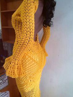 Resultado de imagen para vestidos de fiesta tejidos crochet