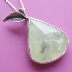 Prehnite Pear Necklace by sudlow on Etsy, $95.00