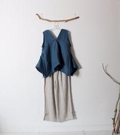 Bonnot lin couture d'origami flare top taille L prêt à porter