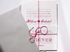 Faire-part de mariage letterpress coeur