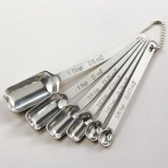 One of my favorite discoveries at WorldMarket.com: Rectangular Stainless Steel Measuring Spoon Set