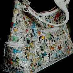 DIY paper and comics bag - here the video: http://www.youtube.com/watch?v=eG3GwLy_5y4