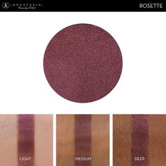 Eye Shadow Singles with skin swatch in the shade Rosette