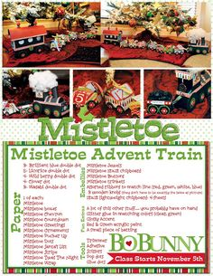 This advent train couldn't be cuter! Find video tutorials on the blog every Monday in November! #bobunny