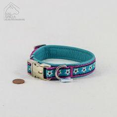 "Mini Leder Halsband ""Stars"" türkis/pink  24,90€"