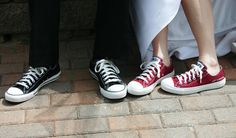 e37e30997653  Just Married  Converse! i sooo want these but in purple! Chuck Taylors  WeddingJust ...