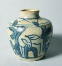 Late Ming Swatow blue and white jarlet deer Throwing Clay, Pottery Plates, Asian Art, Stoneware, Deer, Blue And White, Ceramics, Guangzhou, Antiques