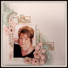 Our gorgeous Ada on a single page layout using our C105 Memory Lane Collection.
