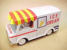 Old Tin Toy Ice Cream Truck Metro Delivery Van Made In Japan Mr Softee Type