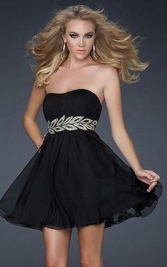 Black Strapless La Femme 16824 Ruched Short Vine Dress - $166.00 : Prom Dresses 2013, Homecoming Dresses 2013--PromSister