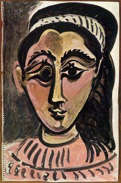 Pablo Picasso, 1962 Tête de femme 3 on ArtStack #pablo-picasso #art