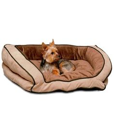 K Bolster Couch Pet Bed, Large 28-Inch by 40-Inch, Mocha/Tan