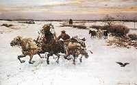 The Polish artist Alfred von Wierusz-Kowalski aka Jan Maksymilian Wierusz idealized scenes of vehicles sliding on the snow. Camel, Artist, Animals, Shire Horse, Animales, Animaux, Camels, Bactrian Camel, Animais