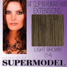 "14"" Clip In Human Hair Extensions Colour 14"
