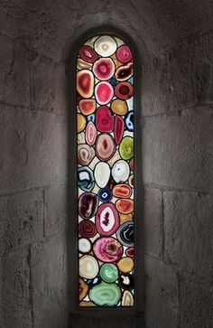 Agate stone window! Yes please!
