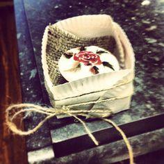 Rustic handpainted cupcake by julie shaw
