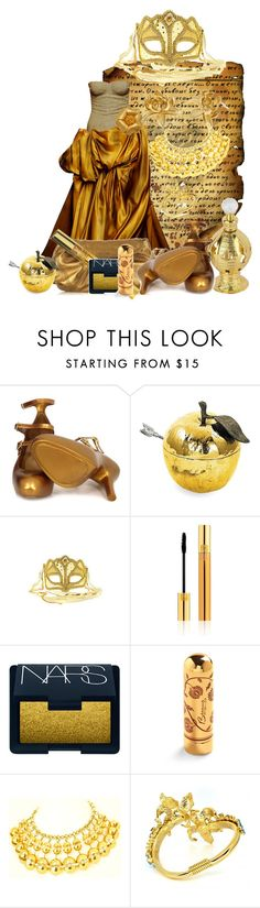 """""""Welcome to the Golden Age"""" by duci ❤ liked on Polyvore featuring S.W.O.R.D., Bottega Veneta, Novelty, Miu Miu, Vivienne Westwood, Michael Aram, Masquerade, Yves Saint Laurent, NARS Cosmetics and Betsey Johnson"""