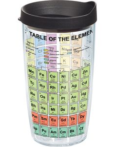 The Periodic Table of Elements-Wrap with Lid Tervis Tumbler. I WANT ONE NOW. @Hollie Manning