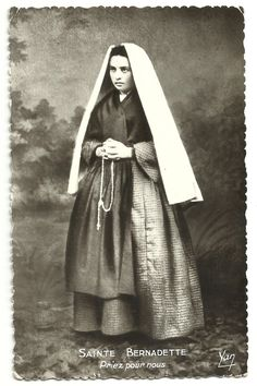 allaboutmary:  A photograph of St Bernadette, the visionary of Lourdes.