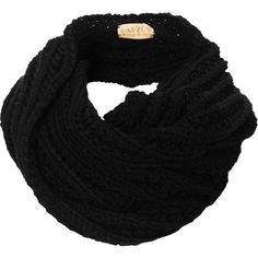 Garzon Black Merino Luna Cowl Snood ($89) ❤ liked on Polyvore featuring accessories, scarves, black, bufandas, black snood, black scarves, thick scarves, snood scarves and merino wool shawl