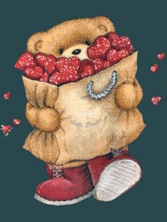 teddy with hearts Teddy Bear Quotes, Teddy Bear Images, Gif Animé, Animated Gif, Gif Pictures, Cute Pictures, Bisous Gif, Hugs And Kisses Quotes, Cute Love Gif