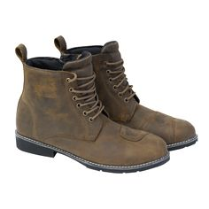 Merlin Ashton Waterproof Boot - Ashton is a laceup waterproof brown boot with lever protection on both left and right boots.