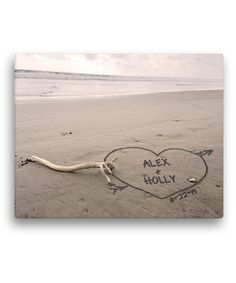 Another great find on #zulily! Names in the Sand Personalized Wrapped Canvas by Personalized Planet #zulilyfinds