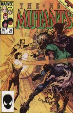 New Mutants 30 - Bill Sienkiewicz Marvel Comic Books, Comic Books Art, Marvel Comics, Dc Universe, Storyboard, Swamp Thing 1982, The New Mutants, Marvel Series, Classic Comics