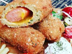 Csicseriborsó-bundás hot-dog recept