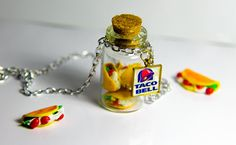 Taco Bell inspired Miniature Food Polymer Clay Charm by MintDahlia
