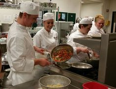 Students are hands-on learners in our Principles of Food Lab