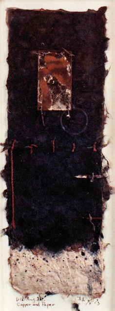 D-18.Aug.1989collage/copper and paper making 林孝彦 HAYASHI Takahiko 1989