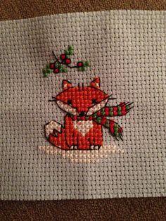 Christmas Fox Cross Stitch 16/01/16