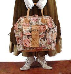Mary Poppins Carpet Bag Floral Shabby Chic Tote by BitsandPurses,