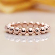 Rose Gold Engagement Ring, Diamond Wedding Bands, Wedding Rings, Beaded Rings, Quality Diamonds, Anniversary Rings, Gold Beads, Or Rose, Three Rings