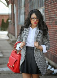 Blogger BFF @Nathalie Benito De Francisci Michele looks chic and stylish in her latest #ootd featuring a Charlotte Russe skirt! See more on her blog post: A Love Affair With Fashion