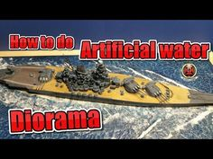 This is a tutorial on how to do artificial water for dioramas. Here i teach you how you can do a water Diorama for your ship or an ocean Diorama Musica: -www. Macaroni Art, Ocean Diorama, Hms Beagle, How To Make Water, Little Pool, Water Effect, Liquitex, Water Element, Military Diorama
