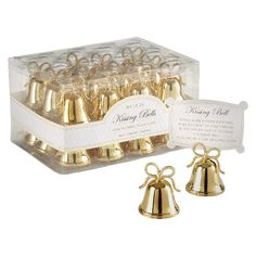 24ct Gold Kissing Bells Place Card/Photo Holder : Target
