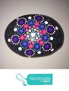 Hand Painted Mandala Stone #221 from Mafa Stones http://www.amazon.com/dp/B01GBE3IK2/ref=hnd_sw_r_pi_dp_szWsxb0QPWC2G #handmadeatamazon