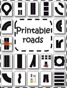 Printable road parts freebie
