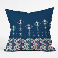Belle13 Abstract Love Flowers Throw Pillow