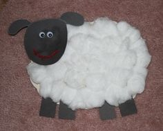 Sing the nursery rhyme baa baa black sheep and make a cute sheep project to go along with it!