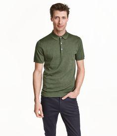 Fine-knit polo shirt | H&M Men's Classics