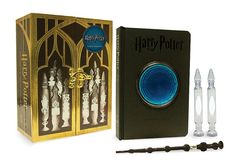 Inspired by the mystical Pensieve concept from the films, The Harry Potter Pensieve Memory Set includes:* Ultra-deluxe book with Pensieve dish embedded into the cover containing a misty liquid effect. The memory book will feature q Objet Harry Potter, Deco Harry Potter, Harry Potter Merchandise, Harry Potter Room, Harry Potter Films, Harry Potter Hogwarts, Slytherin, Collection Harry Potter, Shopping