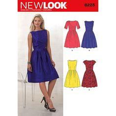 New Look Misses' Dress with Bodice Variations Pattern